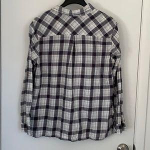 croft & barrow Tops - Plaid flannel shirt ⬛️⬜️